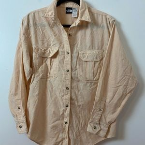 PeachNorth Face Cotton Button up